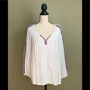 Old Navy Bohemian Embroidered Blouse